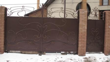 Купить ворота раздвижные киев откатные ворота на рельсе в краснодаре